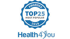 Health 4 You Top 25 Most Popular Award Badge
