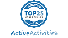 Active Activities Top 25 Most Popular Award Badge
